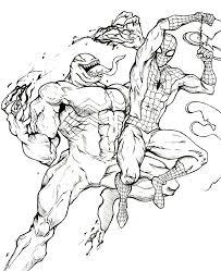 spiderman venom coloring
