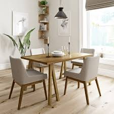 oak trestle dining table hudson oak table with 4x lincoln beige chairs victoriaplum com
