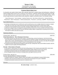 Construction Executive Resume Samples by Fashion Executive Resume