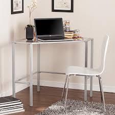Corner Desk Metal Chace Metal Glass Corner Desk Silver 8521827 Hsn