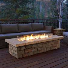 round propane fire pit table propane fire pits outdoor the home depot