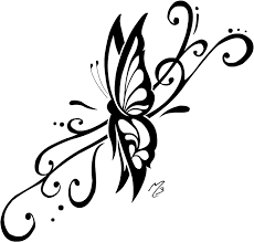 gorgeous sle of tribal butterfly tattoomagz