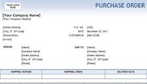 Microsoft Excel Purchase Order Template Simple Purchase Order Form