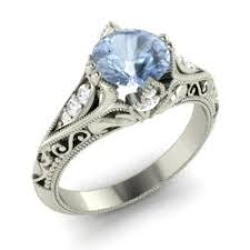 antique aquamarine engagement rings vintage aquamarine engagement rings diamondere