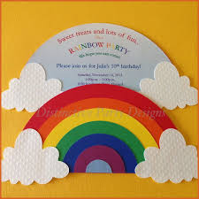 Rainbow Themed Birthday Favors by Best 25 Rainbow Invitations Ideas On Rainbow