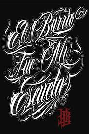 96 best tattoo fonts images on pinterest chicano lettering