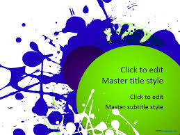 powerpoint design colors splash colors ppt template