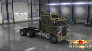kenworth aerodyne truck kenworth k100 aerodyne scuderia ferrari skin simulator games