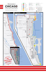 Blue Line Chicago Map by Course