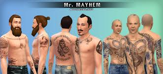 mod the sims samcro tattoos u0026 scars pack