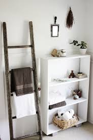 Bathroom Storage Ladder Bathroom Furniture Bathroom Storage Shelf Ideas Feature White