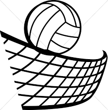 volleyball black white youth program clipart