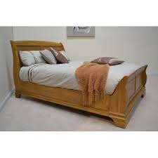 farmhouse 6ft super kingsize oak sleigh bed