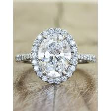 bague mariage or blanc monture diamant ovale or blanc é bague de mariage et fiançailles