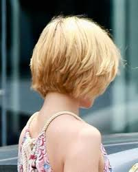 front and back views of chopped hair short layered hairstyles back view short layered bob hairstyles