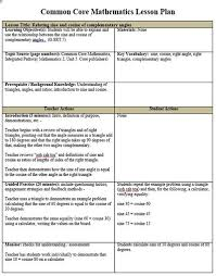 Weekly Lesson Plan Template Common by Math Lesson Plan Template Free Elementary Math Lesson Plan Pdf