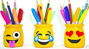 diy supplies for back to easy u0026 cute emoji pencil