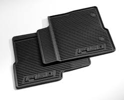 Ford Escape Accessories - floor mats all weather thermoplastic rubber black front pair