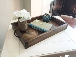 Coffee Table Tray by Rustic Wooden Ottoman Tray Decorative Tray Coffee Table