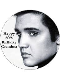 elvis cake topper 7 5 personalised elvis edible icing or wafer cake topper