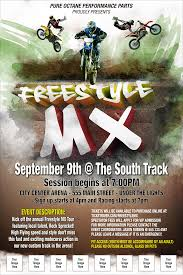 freestyle motocross tickets mx logo poster