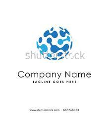 globe data technology logo template stock vector 665746333