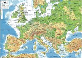 Western Europe Physical Map by Western Europe Physical Map And Roundtripticket Me