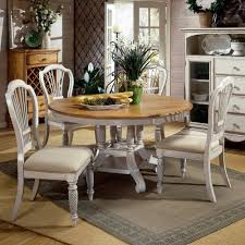 Awesome Oval Farmhouse Dining Table Also Traditional Pedestal - Antique white pedestal dining table