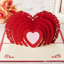 high quality three dimensional greeting cards diy paper art