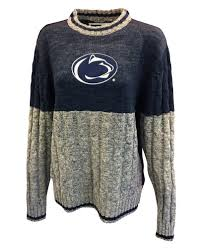 penn state s cable knit sweater womens dress empty