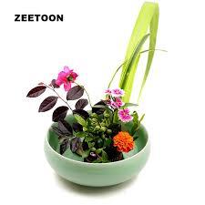 Japanese Flower Vases Japanese Style Celadon Flower Arrangement Pot Ikebana Creative