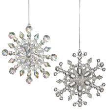 cbk iridescent snowflake ornaments 596340