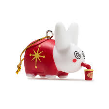 happy labbit tree ornaments 5 pack kidrobot