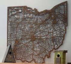 Columbus Ohio Map by Beautiful Laser Cut Wood Map Of Ohio Celebrate Local Shop The