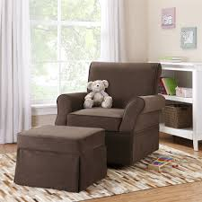 Dorel Rocking Chair Slipcover Dorel Living Baby Relax Kelcie Swivel Glider U0026 Ottoman Chocolate