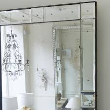 venetian mirror with mirrored frame in mirrors
