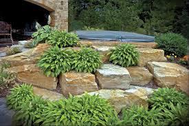 Rock Gardens Green Bay by South Bay Cluster Boulders Lurvey Landscape Supply