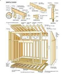 8x12 lean to shed plans 01 floor foundation wall frame carpentry