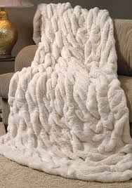 Faux Fur Electric Throw Ivory Mink Couture Faux Fur Throw Gradient Color Special Person