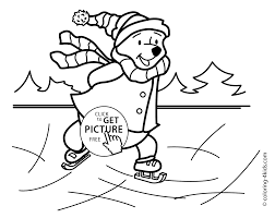 winter coloring pages bear for kids seasons coloring pages