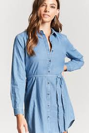 tie waist shirt dress forever21