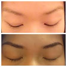 permanent makeup eyebrow embroidering before and after