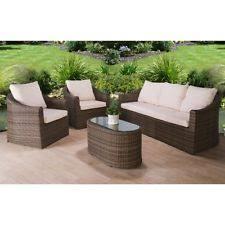 Garden  Patio Rattan Table  Chair Furniture Sets EBay - Rattan furniture set