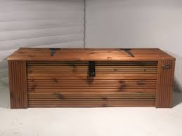 Patio Storage Chest by Handmade Treated Wooden Outdoor Garden Patio Storage Chest Box