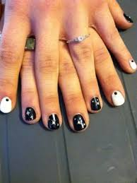 black white and pink nail design my own nail art pinterest
