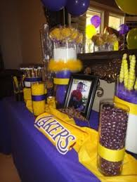 basketball party table decorations lakers themed party magnificent party rooms pinterest themed