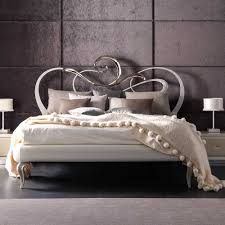 pearl and silver designer italian iron bed juliettes interiors