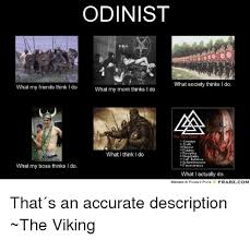 What Society Thinks I Do Meme - odinist what society thinks i do what my friends think i do what