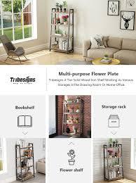 Easy To Assemble Bookshelves Amazon Com Tribesigns 4 Shelf Bookcase 4 Tier Ladder Shelf