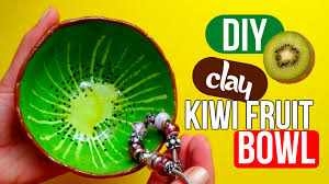 Fruit Bowl by Diy Clay Kiwi Fruit Bowl Easy Youtube